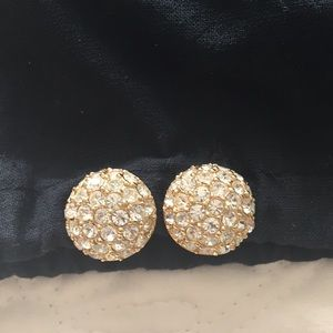 Christian Dior vintage button  clip earrings